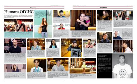 PHOTO: Humans of CHC on City News CHC's 26 Anniversary Issue